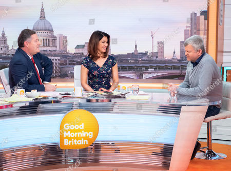 Piers Morgan and Susanna Reid with Adrian Chiles