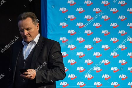 Stock Picture of Alternative for Germany (AfD) Party deputy chairman Georg Pazderski during the European election convention (Europawahlversammlung) of the AfD in Riesa, Germany, 14 January 2019. The AfD gathers from 11 to 14 January 2019 in Riesa, for the election of their candidates for the European elections. European elections take place from 23 to 26 May 2019.