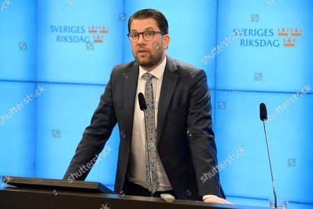 Editorial image of Speaker of the Swedish Parliament will present a proposal for candidate for Prime Minister, Stockholm, Sweden - 14 Jan 2019