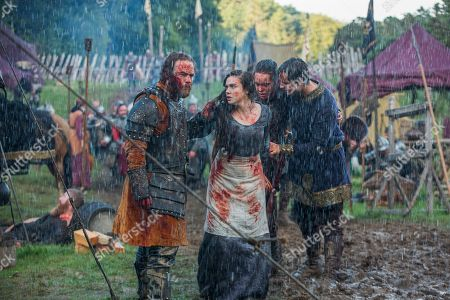 Moe Dunford as Aethelwulf, Jennie Jacques as Judith, Ferdia Walsh-Peelo as Alfred The Great and Darren Cahill as Aethelred