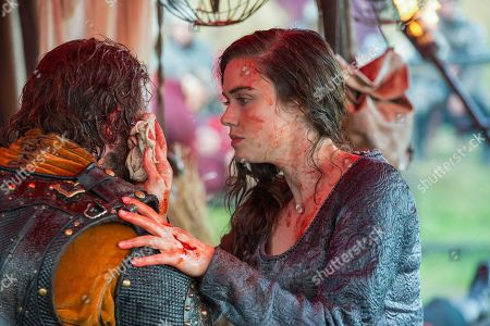Moe Dunford as Aethelwulf and Jennie Jacques as Judith
