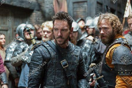 Jonathan Rhys Meyers as Bishop Heahmund and Moe Dunford as Aethelwulf