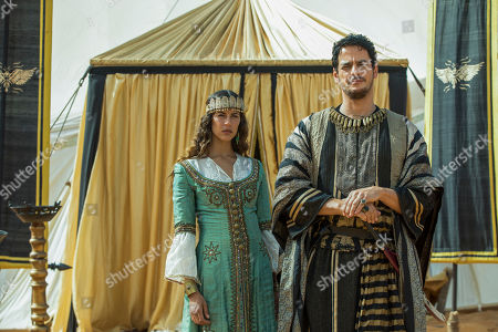 Stock Photo of Karima McAdams as Kassia and Kal Naga as Ziyadat Allah
