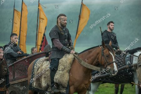 Alex Høgh Andersen as Ivar, Peter Franzen as King Finehair and Jonathan Rhys Meyers as Bishop Heahmund