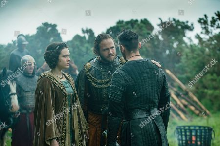 Jennie Jacques as Judith, Moe Dunford as Aethelwulf and Jonathan Rhys Meyers as Bishop Heahmund