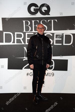 Editorial image of GQ Best Dressed Men event, Milan Fashion Week Men's, Italy - 12 Jan 2019
