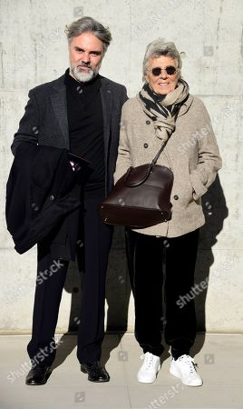 Stock Picture of Rosanna Armani with her son Rosario Camerana