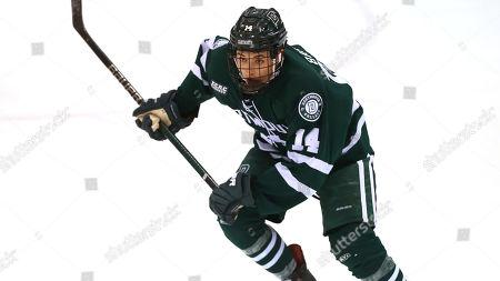 Dartmouth's Matt Baker (14) during an NCAA hockey game against Princeton, Saturday, Jan.12, 2019 in Princeton, N.J