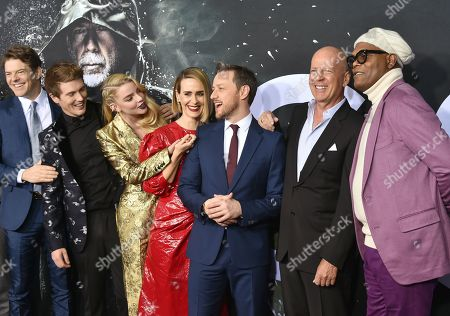 Jason Blum, Spencer Treat Clark, Anya Taylor-Joy, Sarah Paulson, James McAvoy, Bruce Willis and Samuel L. Jackson