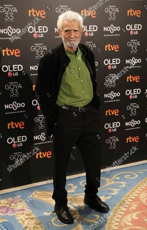 Juan Margallo, nominated as 'Best supporting actor' for his role in the Spanish movie 'Campeones' (Champions) attends the Goya awards nominees party at the Royal Theater in Madrid, Spain, 14 January 2019.