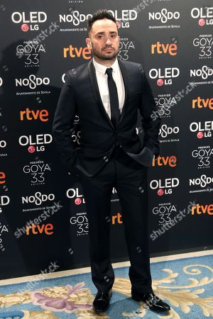 Juan Antonio Bayona attends the party of Goya awards nominees at the Royal Theater in Madrid, Spain, 14 January 2019.