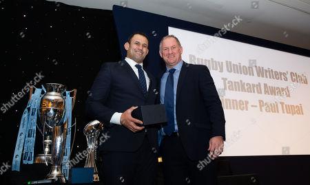 Rugby Union Writers' Club Tankard Winner 2018 - Paul Tupai with Richard Hill (R)