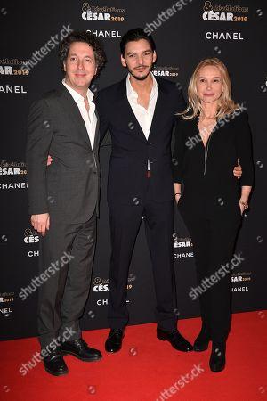 Guillaume Gallienne, Amir El Kacem and Isabelle Doval