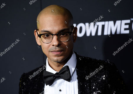 """Yassir Lester, a cast member in the Showtime television series """"Black Monday,"""" poses at the premiere of the show, in Los Angeles"""