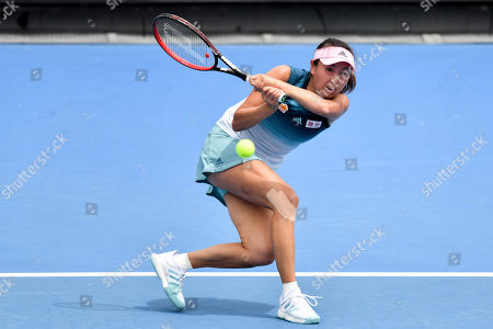 Shuai Peng in action in a first round match against Eugenie Bouchard on day two of the Australian Open Grand Slam tennis tournament in Melbourne, Australia. Majchrzak retired in the fifth set. Bouchard won 62 61