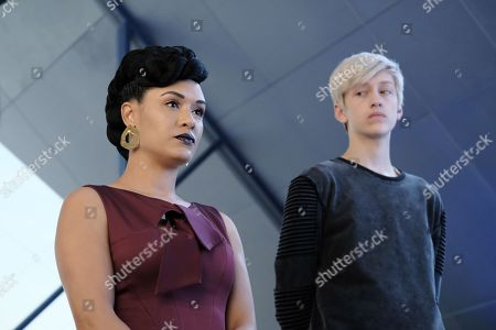 Grace Gealey as Reeva Payge and Percy Hynes White as Andy Strucker