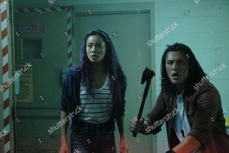 Jamie Chung as Clarice Fong/Blink and Blair Redford as John Proudstar/Thunderbird
