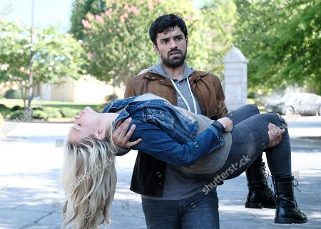 Natalie Alyn Lind as Lauren Strucker and Sean Teale as Marcos Diaz/Eclipse