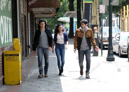 Blair Redford as John Proudstar/Thunderbird, Jamie Chung as Clarice Fong/Blink and Sean Teale as Marcos Diaz/Eclipse