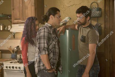 Jamie Chung as Clarice Fong/Blink, Blair Redford as John Proudstar/Thunderbird and Sean Teale as Marcos Diaz/Eclipse