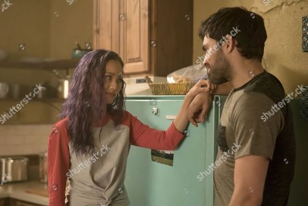 Stock Image of Jamie Chung as Clarice Fong/Blink and Sean Teale as Marcos Diaz/Eclipse