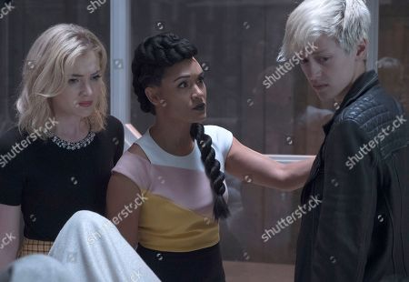 Skyler Samuels as Esme Frost, Grace Gealey as Reeva Payge and Percy Hynes White as Andy Strucker