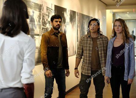 Sean Teale as Marcos Diaz/Eclipse, Blair Redford as John Proudstar/Thunderbird and Amy Acker as Kate Strucker