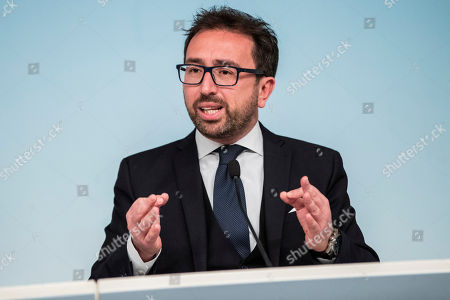 Italian Minister of Justice Alfonso Bonafede during the press conference on the arrest of Italian former terrorist fugitive Cesare Battisti