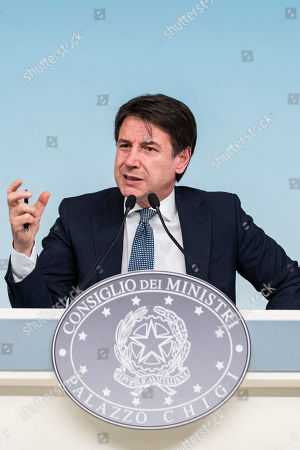 Editorial picture of Government press conference on the arrest of Cesare Battisti, Palazzo Chigi, Rome, Italy - 14 Jan 2019