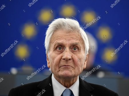 Former European Central Bank (ECB) President Jean-Claude Trichet delivers his speech at the European Parliament in Strasbourg, France, 15 January 2019, during the 20 years commemoration of the Euro.