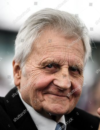 Stock Image of Former European Central Bank (ECB) President Jean-Claude Trichet smiles after delivering his speech at the European Parliament in Strasbourg, France, 15 January 2019, during the 20 years commemoration of the Euro.