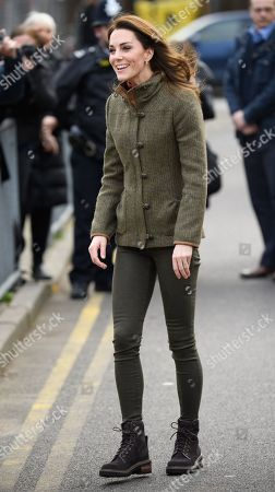 Catherine Duchess of Cambridge visit to King Henry's Walk Community Garden, London