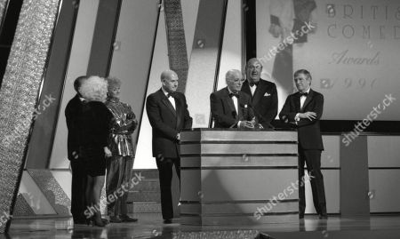 Lifetime achievement award for film comedy awarded to Peter Rogers (Producer, the Carry On films producer), with Barbara Windsor, Liz Fraser, Kenneth Connor, Bernard Bresslaw and Sir Michael Parkinson.