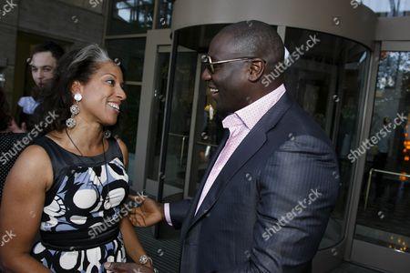 Millicent Shelton and Adewale Akinnuoye-AgbajeÊÊ