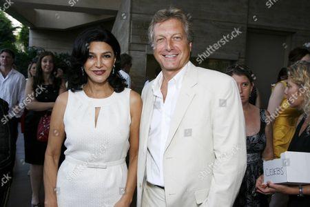 Shohreh Aghdashloo and BAFTA/LA's Peter Morris