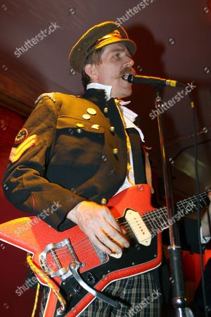 Editorial image of Billy Childish and The Musicians Of The British Empire  in concert at the Boston Arms, London, Britain - 18 Sep 2009