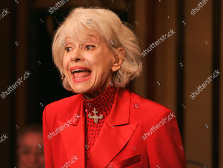 "Stock Photo of Carol Channing performs during her one woman show,""The First 80 Years are the Hardest,"" at the cabaret Feinstein's at the Regency in New York. Channing, whose career spanned decades on Broadway and on television has died at age 97. Publicist B. Harlan Boll says Channing died of natural causes early in Rancho Mirage, Calif"