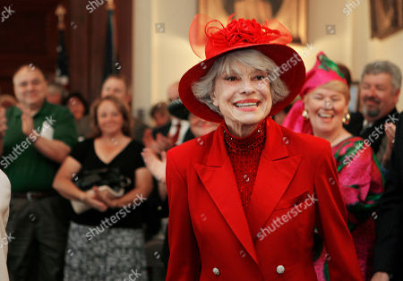 Stock Picture of Singer and actress Carol Channing in Concord, N.H. Channing, whose career spanned decades on Broadway and on television has died at age 97. Publicist B. Harlan Boll says Channing died of natural causes early in Rancho Mirage, Calif