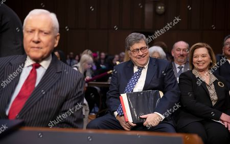 Former US Attorney General William Barr (R) and Republican Senator Orrin Hatch of Utah (L) as he arrives to the Senate Judiciary Committee for his confirmation hearing on Capitol Hill in Washington, DC, USA, 15 January 2019. Barr, who was nominated by President Trump to replace the embattled Jeff Sessions and who previously served as US Attorney General under President George H.W. Bush, has assured members in private that it is in the best interests of everyone to let the Mueller probe finish its work.