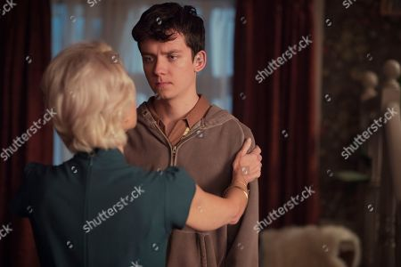 Gillian Anderson as Jean and Asa Butterfield as Otis