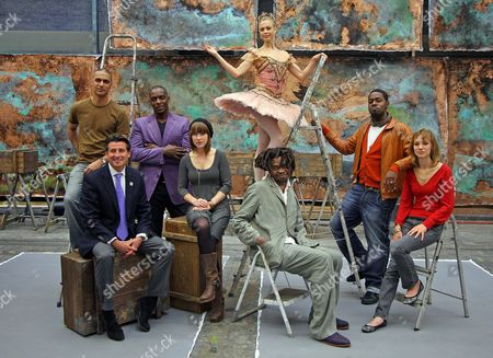 Seb Coe Launches The Cultrual Olympiad With Young Stars Rom The World Of Culture L To R: Musician Nitin Sawhney Seb Coe Jass Singer Cleveland Watkiss Actress Scarlett Johnson Dancer Agnes Oaks Artist Yinka Shonibare And Jazz Saxophonist Soweto Kinch...