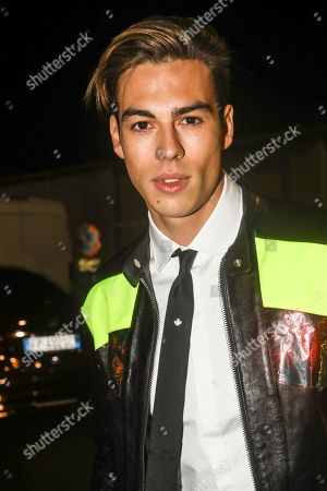 Stock Picture of Corentin Huard at Dsquared2 show