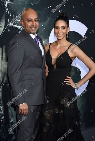 "Ashwin Rajan and wife attend the premiere of ""Glass"" at the SVA Theatre, in New York"