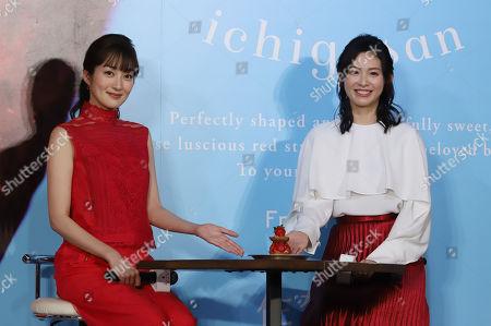 Editorial picture of Ichigosan strawberry brand event, Tokyo, Japan - 15 Jan 2019