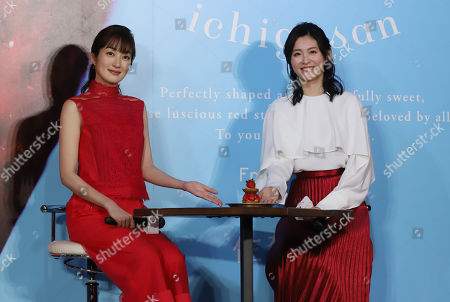 Editorial photo of Ichigosan strawberry brand event, Tokyo, Japan - 15 Jan 2019