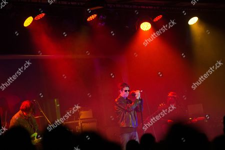 Stock Picture of Echo & The Bunnymen - Will Sergeant, Ian McCulloch, Kelley Stoltz