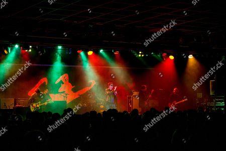Stock Picture of Echo & The Bunnymen - Will Sergeant, Jez Wing, Nicholas Kilroe, Ian McCulloch, Stephen Brannan, Kelley Stoltz