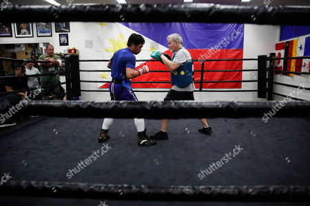 Editorial picture of Tim Dahlberg Manny Pacquiao Boxing, Los Angeles, USA - 14 Jan 2019