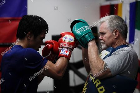 Editorial image of Tim Dahlberg Manny Pacquiao Boxing, Los Angeles, USA - 14 Jan 2019