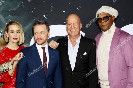 Charlayne Woodard, Spencer Treat Clark, James McAvoy, Anya Taylor-Joy, Sarah Paulson, M Night Shyamalan, Bruce Willis and Samuel L. Jackson